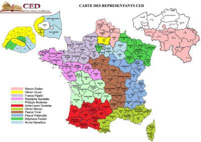 CED Carte de France et Belgique