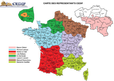 CEDIF Carte de France et Belgique