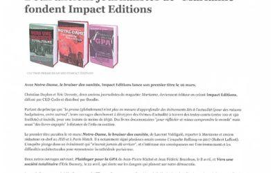 Editions Impacts-Article Livres Hebdo